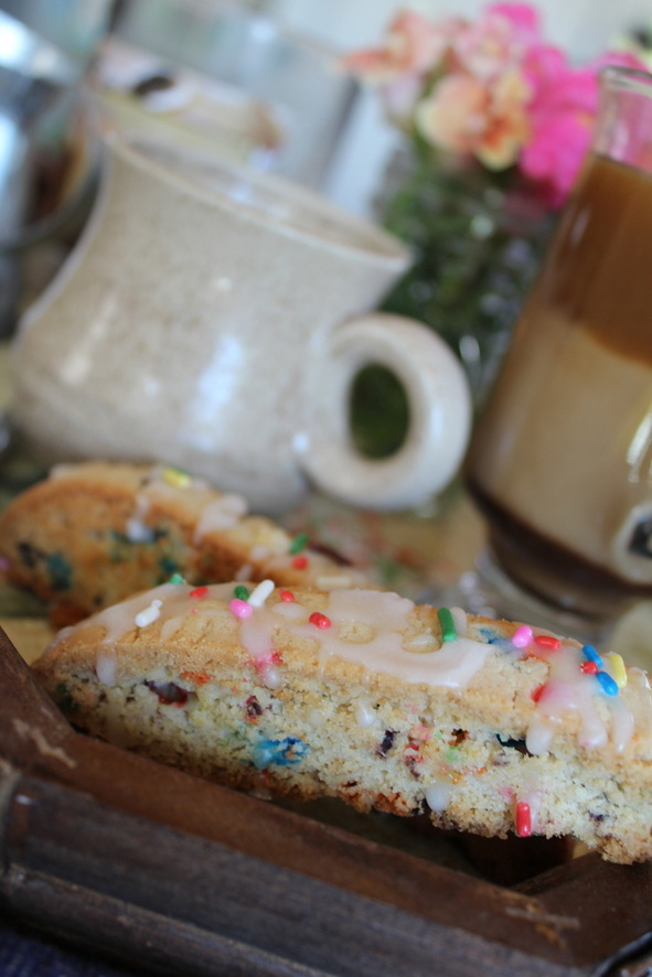 Delicious Celebration Biscotti with Sprinkles