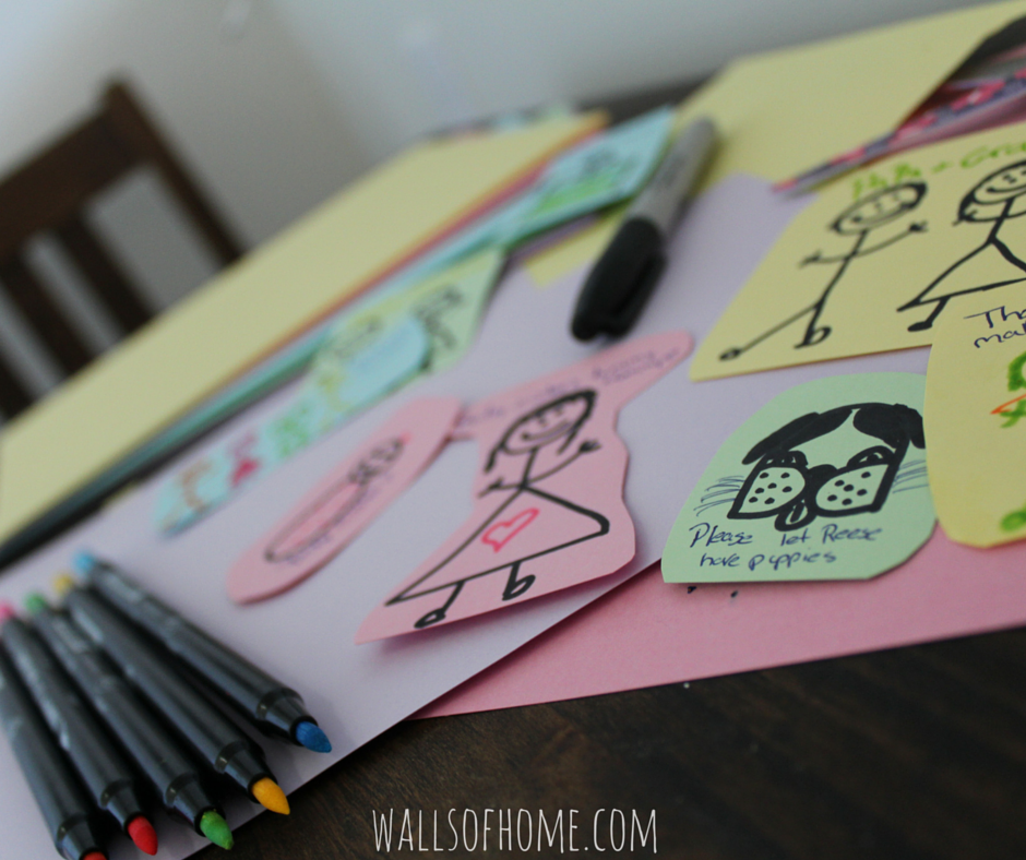 How to create simple and effective prayer cards for young children! <3 Its kinda like a War Room for toddlers!