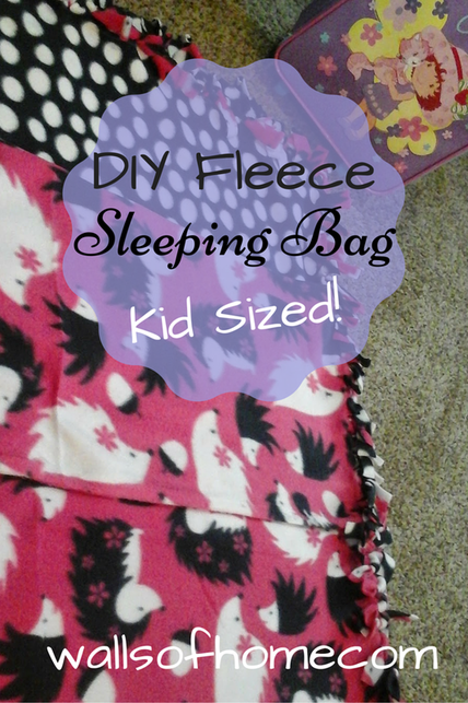 DIY Fleece Sleeping Bag for Kids! | Make a warm and cozy sleeping bag for your kids with the exact fabric that they want! This project is super simple and can be finished in about 90 minutes or less. Take some time to create!