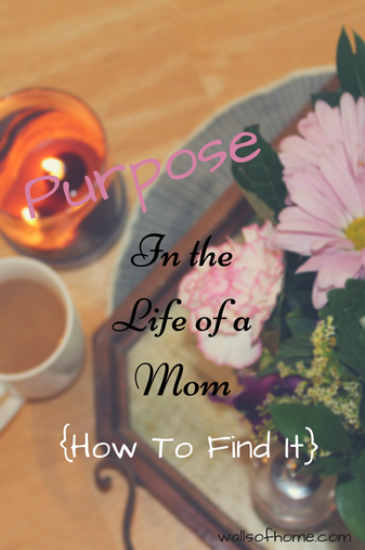 Purpose in the life of a Mom {How to find it} Are you struggling to remember your why? There is hope!