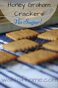 Honey Graham Crackers - No Sugar! | The perfect & simple snack to make with and for your kids. Anyone can make these! And they make absolutely delicious s'mores. :)