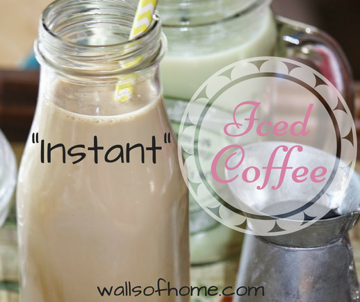 Instant Iced Coffee | a quick and easy Iced Coffee Concentrate to keep in your fridge so you can mix up a glass of Iced Coffee whenever you want!