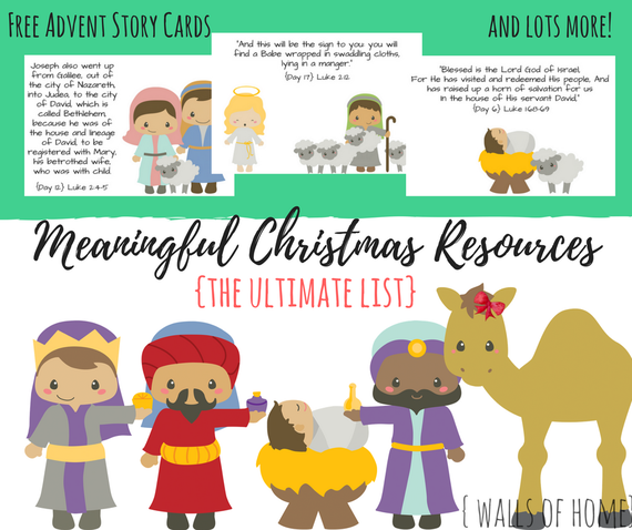 The ultimate list of Jesus centered Christmas resources for your family!